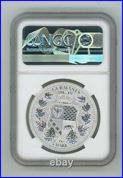 2019 1 oz Silver Allegories Germania & Columbia Medal NGC MS70 First Releases