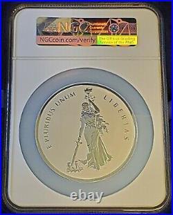 2019 10 oz Canada Peace & Liberty Proof Silver Medal UHR NGC PF70 REV PF FDOI