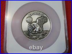 2019 Apollo 11 50th Anniversary Robbins Medal Restrike 5oz Silver NGC Gem UNC