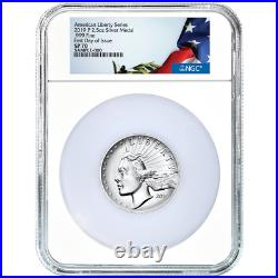 2019-P Silver American Liberty High Relief 2.5oz Medal NGC SP70 FDI Continental