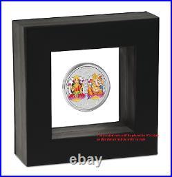 2019 TUVALU Diwali Festival Hindu New Year Gift 1oz Silver Medallion NGC PF70 FR