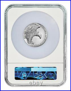 2019P American Liberty High Relief 2.50oz Silver Medal NGC SP69 ER Flag