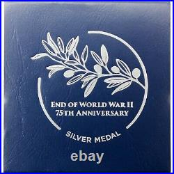 (2020) 75th Anniversary End of World War II Silver Medal PF70 Ultra Cameo NGC V