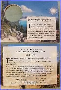 2020 CC Carson City Mint LAKE TAHOE COMMEMORATIVE 1/2oz Silver Medal NGC PF69 UC