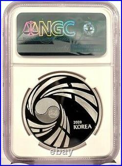 2020 Korea Taekwondo 1 Clay Proof 1 oz Silver Mint Medal NGC PF 70 UCAM
