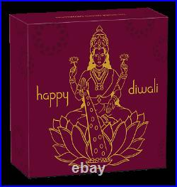 2020 TUVALU Diwali Festival Hindu New Year Gift 1oz Silver Gilt NGC PF70 Medal