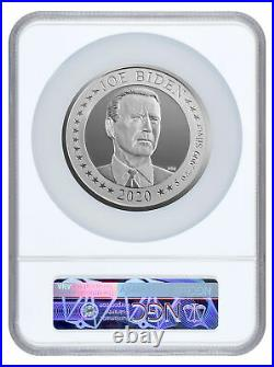 2020 US Presidential Election Flip Coin 5 oz Silver Proof NGC PF70 UC FR