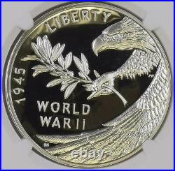 2020 W V75 End of World War II 75th Anniversary 1 Oz Silver Proof Medal NGC PF70