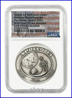 2021 Apollo 14 Robbins Medal 2 oz Silver Medal NGC GEM Uncirculated