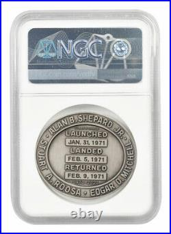 2021 Apollo 14 Robbins Medal 2 oz Silver Medal NGC MS70 Moon Flag Label