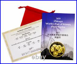 2021 China 50gm Silver ANA Worlds Fair of Money Show Panda Medal NGC PF70 UC FR