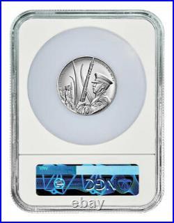 2021 U. S. Air Force 2.50 oz Silver Medal NGC MS70 FR