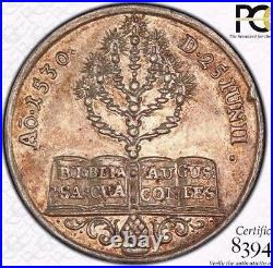 Finest & Only @ Ngc & Pcgs Ms 62 1730 Augsburg Confession Medal Forster-99 Toned