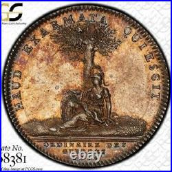 Finest & Only One @ Ngc & Pcgs Ms62 1715 Frankreich War Money Silver Toned XIV