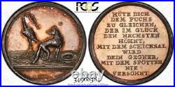 Finest & Only One @ Ngc & Pcgs Sp62 1797 Fox & Stork'loos Medal Germany Toned