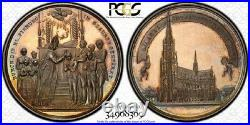 Finest & Only One @ Ngc & Pcgs Sp63 1924 Maria Immaculate Conception Medal Toned