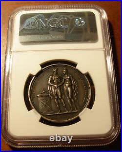 France 1810 Silver Medal NGC MS61 Marriage Napoleon Marie-Louise