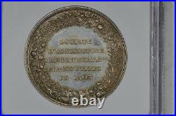 France 1834 Society Of Agriculture Medal Ngc Ms63 Lyon-francois Rozier, Toned