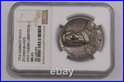 GERMANY Hindenburg Silver Medal (1914) East Prussia Liberation NGC MS63