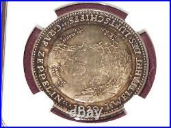 Germany 1929 Silver Graf Zeppelin, Schopfer, Eckener Medal Kaiser-511 NGC PF-64