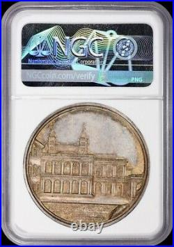 Gorgeous Ngc Ms63 1884 Leo XIII Vatican Silver Medal Rinaldi-78 Italy Toned Cam