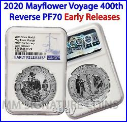 LIVE! 2020 Mayflower 400th 99.99% Silver Medal NGC REVERSE PF70 Early Releases