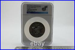 Large Apollo 11 Robbins Medallion with Flown Medal Label (5oz Silver NGC)