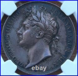 Medal, King George IV coronation 1821, NGC holder AU58