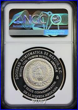 Mexico 1 oz. 1999 Silver Medal SONUMEX (Mexican Numismatic Society) NGC PF65 UC