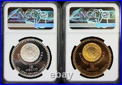 Mexico 28 g Silver and Brass Pair 35th Anniversary Mexico Numismatic Society