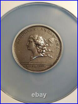 Monnaie de Paris 1782 Libertas Americana Restrike Silver Medal NGC MS 65