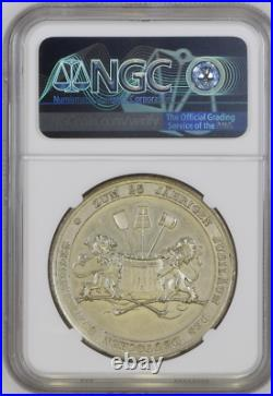 NGC Nurnberg 1896 MS 63 City View Silvered Medal Germany State Rare TOP POP