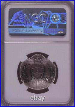 NGC PF70 2020 China Fight Virus 28g Antique Silver Medal (Designer Signed)