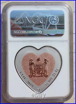 NGC PF70 Fiji S$1 2019 21.4g Silver Coin Celebrating Love Lovebirds Birds
