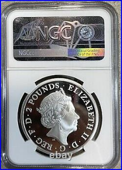 NGC PF70 Great Britain UK 2021 Britannia with Lion Silver Medal 1oz COA
