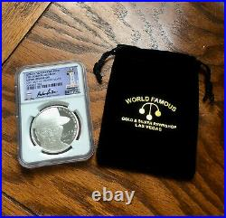 Pawn Stars Old Man 1 Oz. 999 Silver Medallion With Ngc Certified Casing #j206
