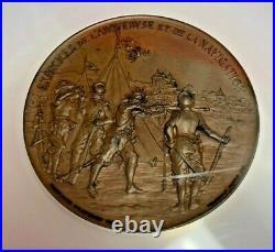 Rare Swiss 1895 Bronze Shooting Medal Geneva R-687c NGC MS64 Mintage-230