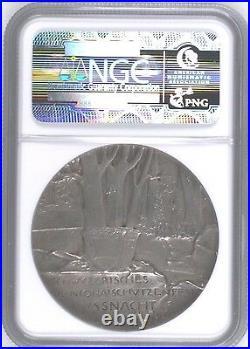 Rare Swiss 1902 Silver Medal Shooting Fest Schwyz Kussnacht R-1078a NGC MS62