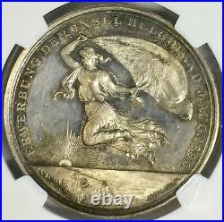 Silver Medal German Empire Heligoland Acquisition Marienburg-6942 1890 NCG MS-62