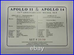 Space Flown Silver Apollo 11 & 14 Medal Set NGC Certified in Presentation Box