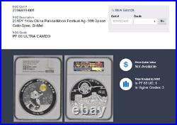 Specimen 2015 China Bi-met Kilo Panda Moon Festival Silver Medal NGC PF66UC Rare