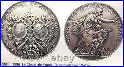 Swiss 1886 Bronze Medal Shooting Fest Neuchatel Chaux de Fonds R-951b NGC MS64