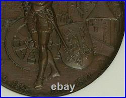 Swiss 1887 Bronze Medal Shooting Fest Geneva R-628d Switzerland NGC MS64