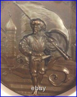Swiss 1893 Bronze Shooting Medal Bern Biel NGC MS65 Mintage-250 R-225b
