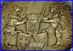 Swiss 1894 Silver Medal Shooting Festival Luzern R-877a Patria Lion NGC MS65