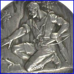 Swiss 1902 Silver Medal Shooting Fest Schwyz Kussnacht R-1078a AR NGC MS64 Rare