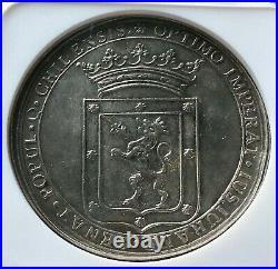 Very Raresilver Medal Proclamation Carlos IV 1789. Santiago De Chile
