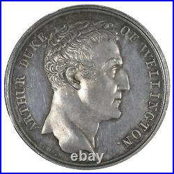 Wellington The English army enters Paris Silver Medal 1815 NGC MS 64 Mudie